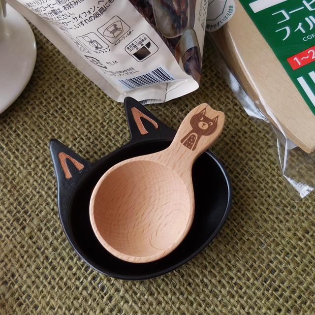 (216) チャーピーキャット 木製 コーヒーメジャースプーン 猫 食器
