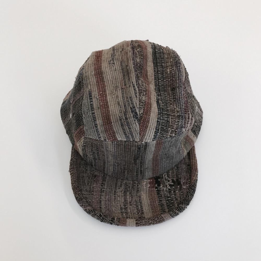 KUON 裂き織りWORK CAP #03