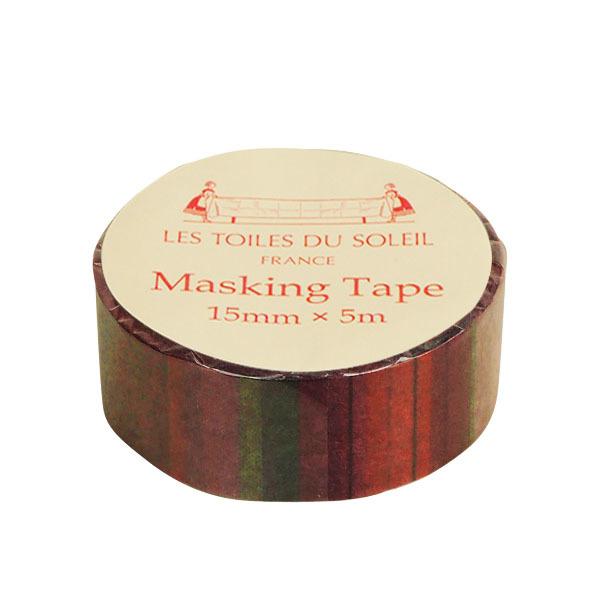 【LES TOILES DU SOLEIL】 マスキングテープ(サンディア ルージュ/SANDIA Rouge)