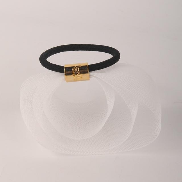 Joe14AW-L12 Joelle Gagnard / circle mesh tape gom A (white)