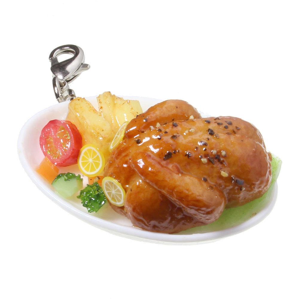 [0026]食品サンプル屋さんの3wayアクセサリー(レモンのローストチキン)