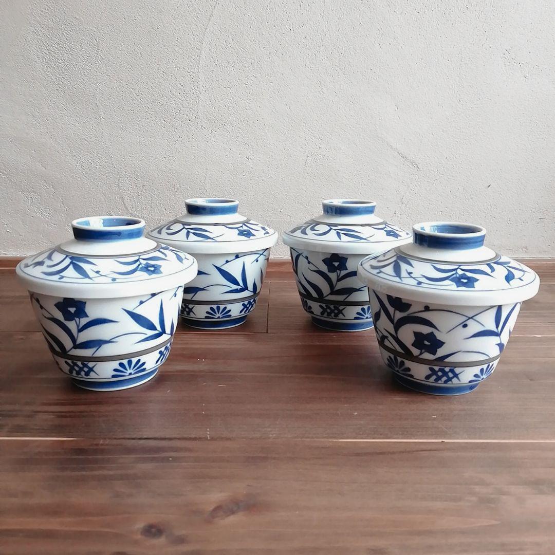 昭和レトロ ノリタケ 茶碗蒸し碗 4客セット