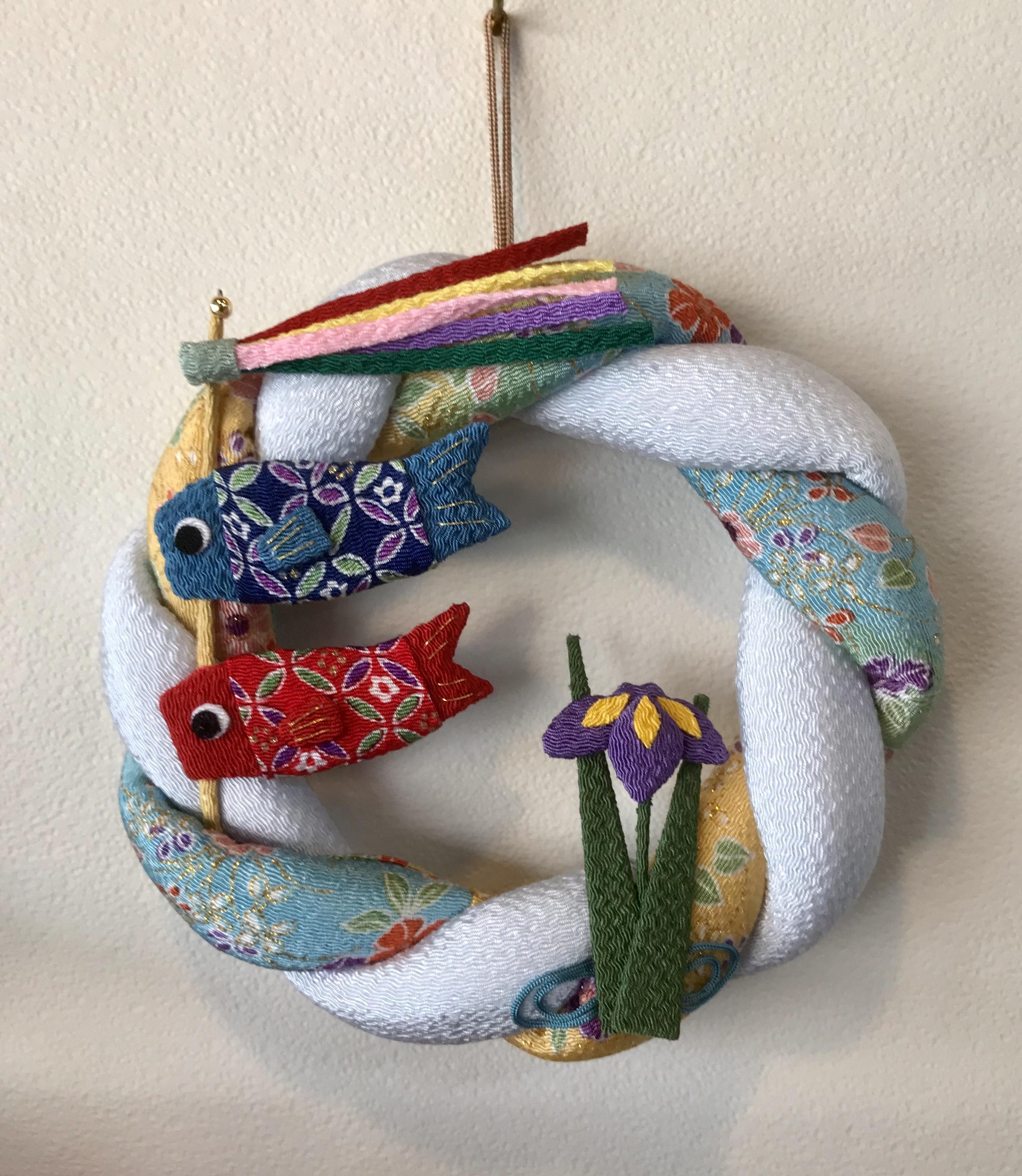 鯉のぼりちりめんリース
