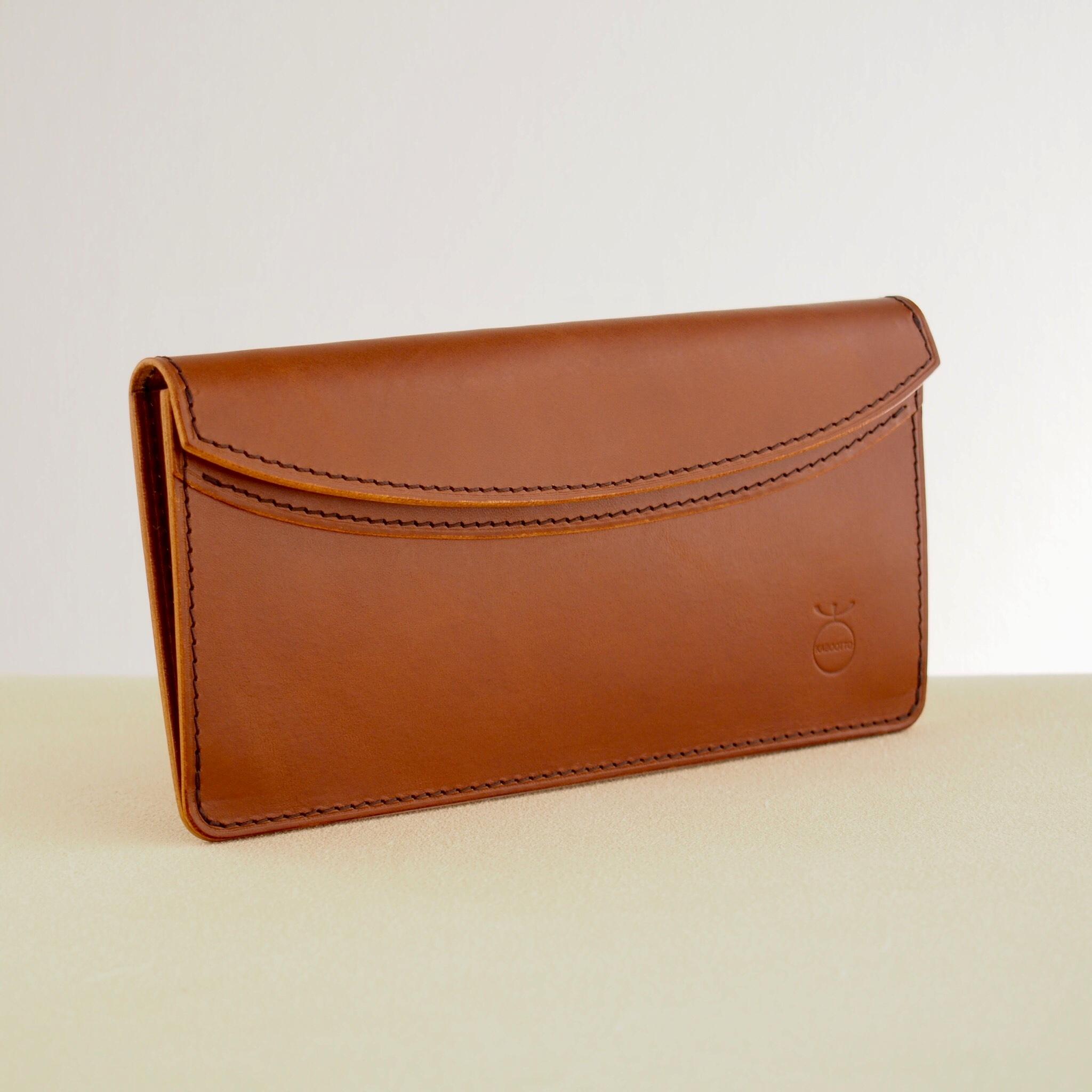 薄い軽い使いやすい! スリムな財布#ブラウン