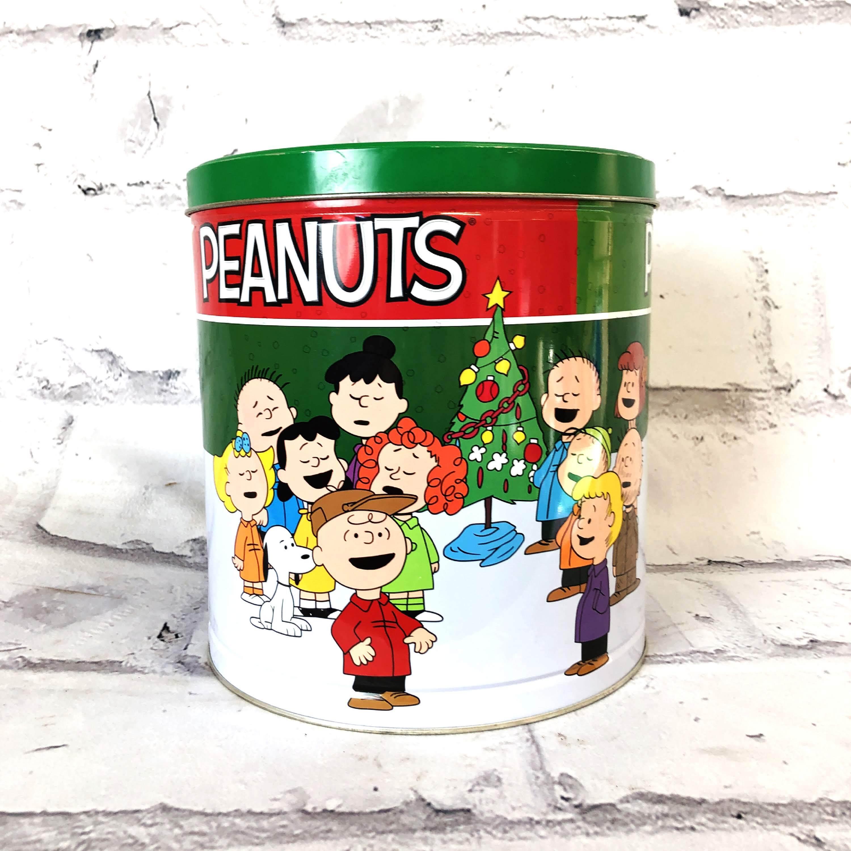品番4264 スヌーピー ピーナッツ缶 PEANUTS ブリキ缶 PEANUTS Friends クリスマス 丸缶 アメリカン雑貨 ヴィンテージ