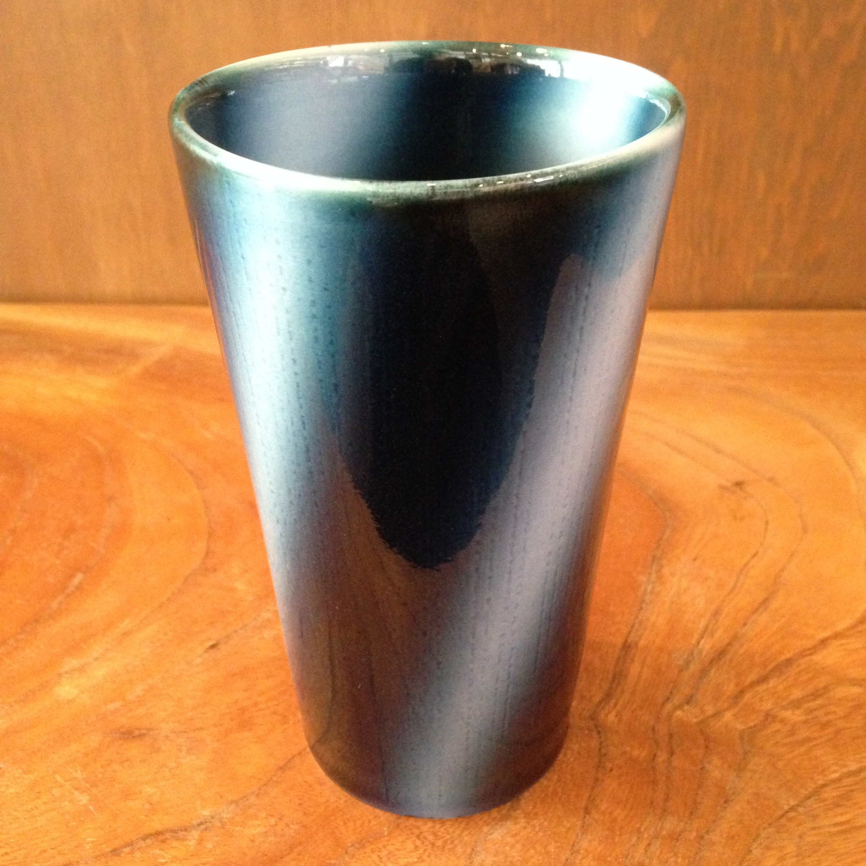 砥部焼 ヨシュア工房 フリーカップ ストライプ 大