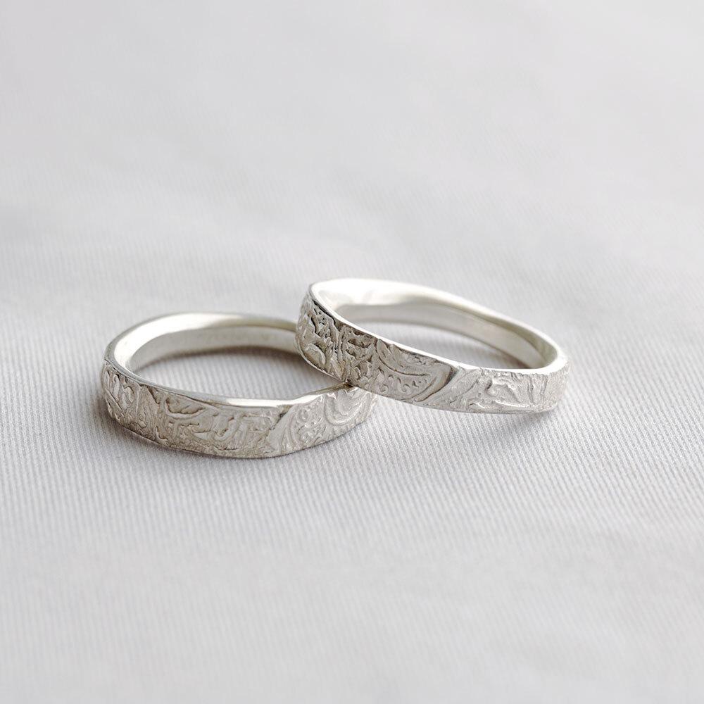 HRR010WH / Arabesque ring (white)