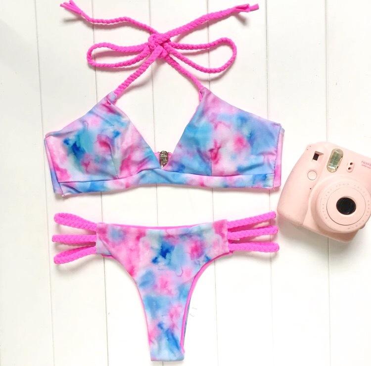 Tie dye pattern Bikini
