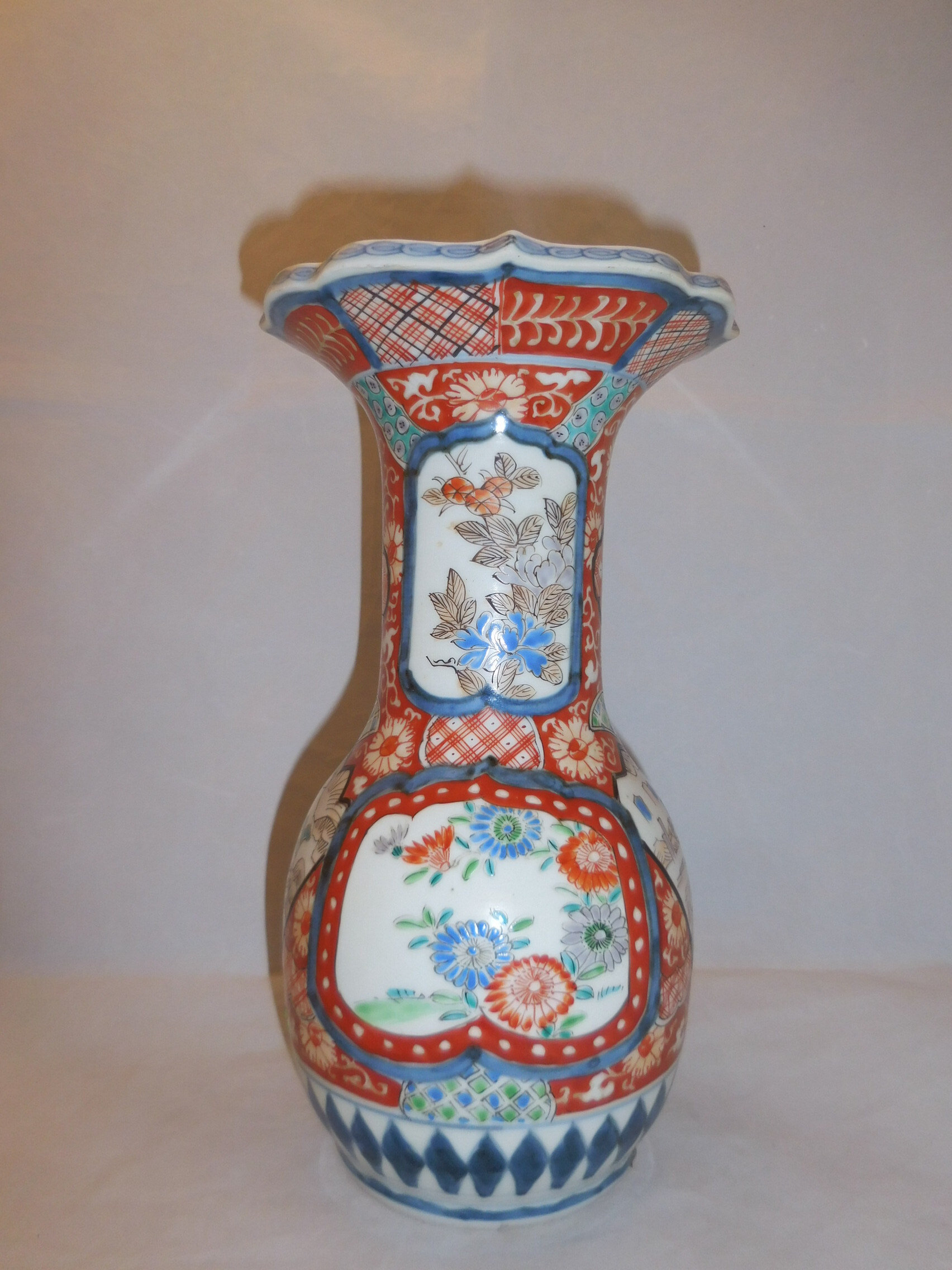 伊万里色絵広口花器 Imari porcelain vase(flowers)