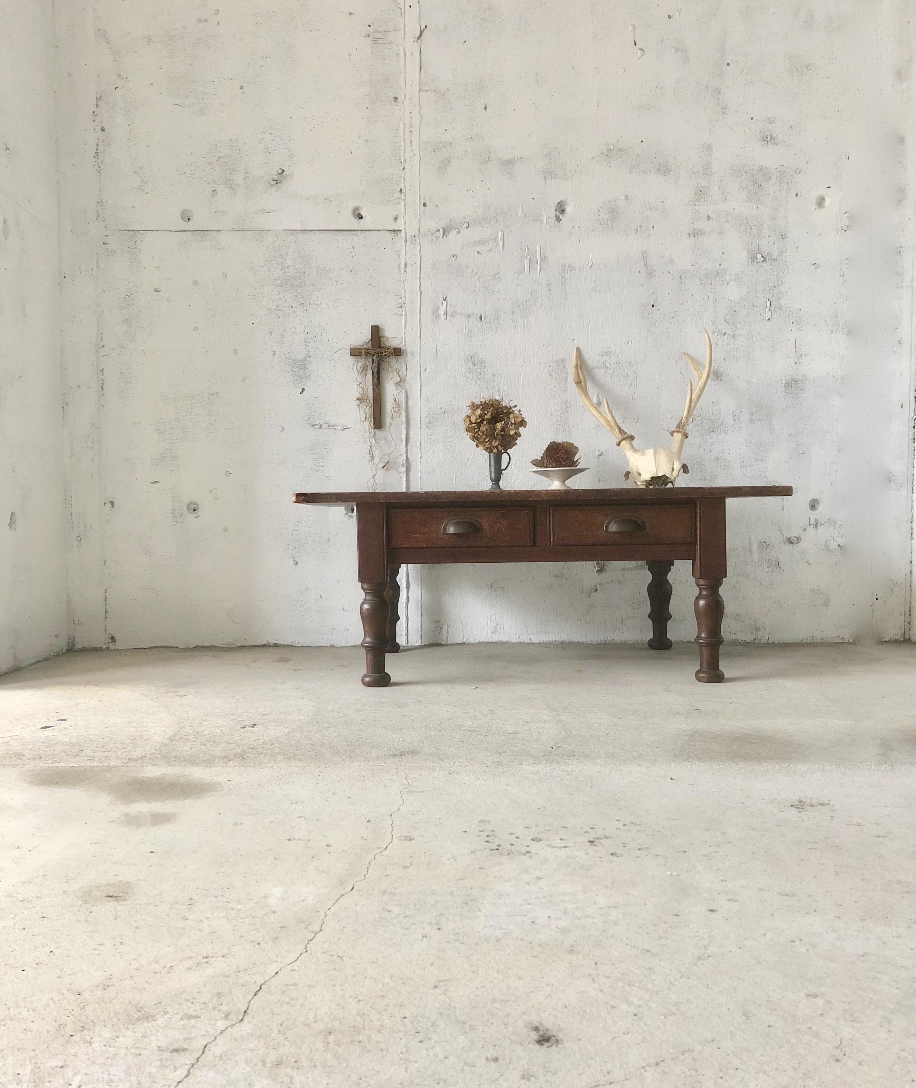 木製ローテーブル[古家具]