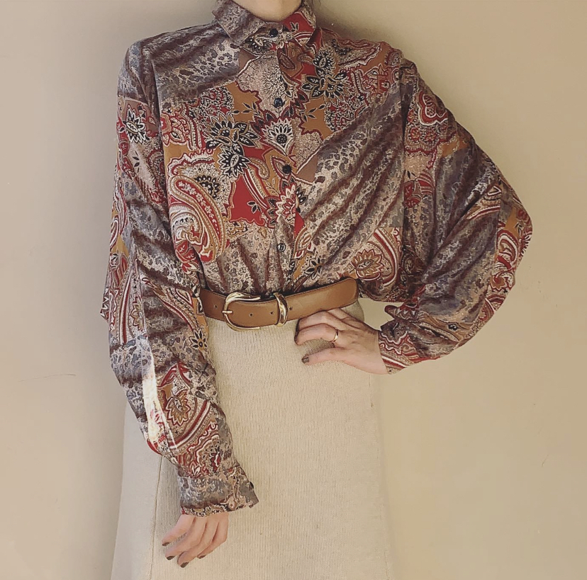 vintage French dolman shirts