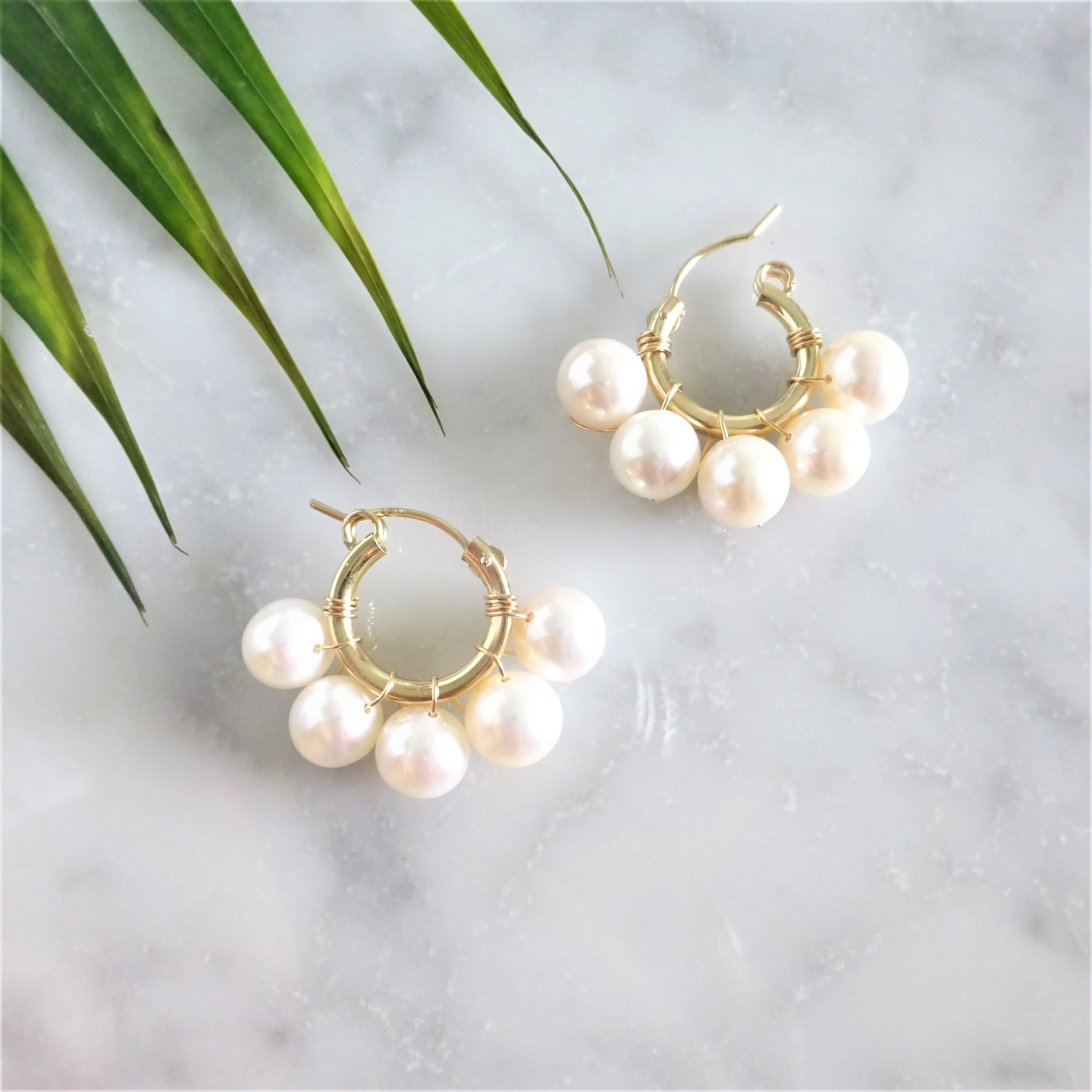 送料無料 Big pearl♡bubble earring/pierced earring パール