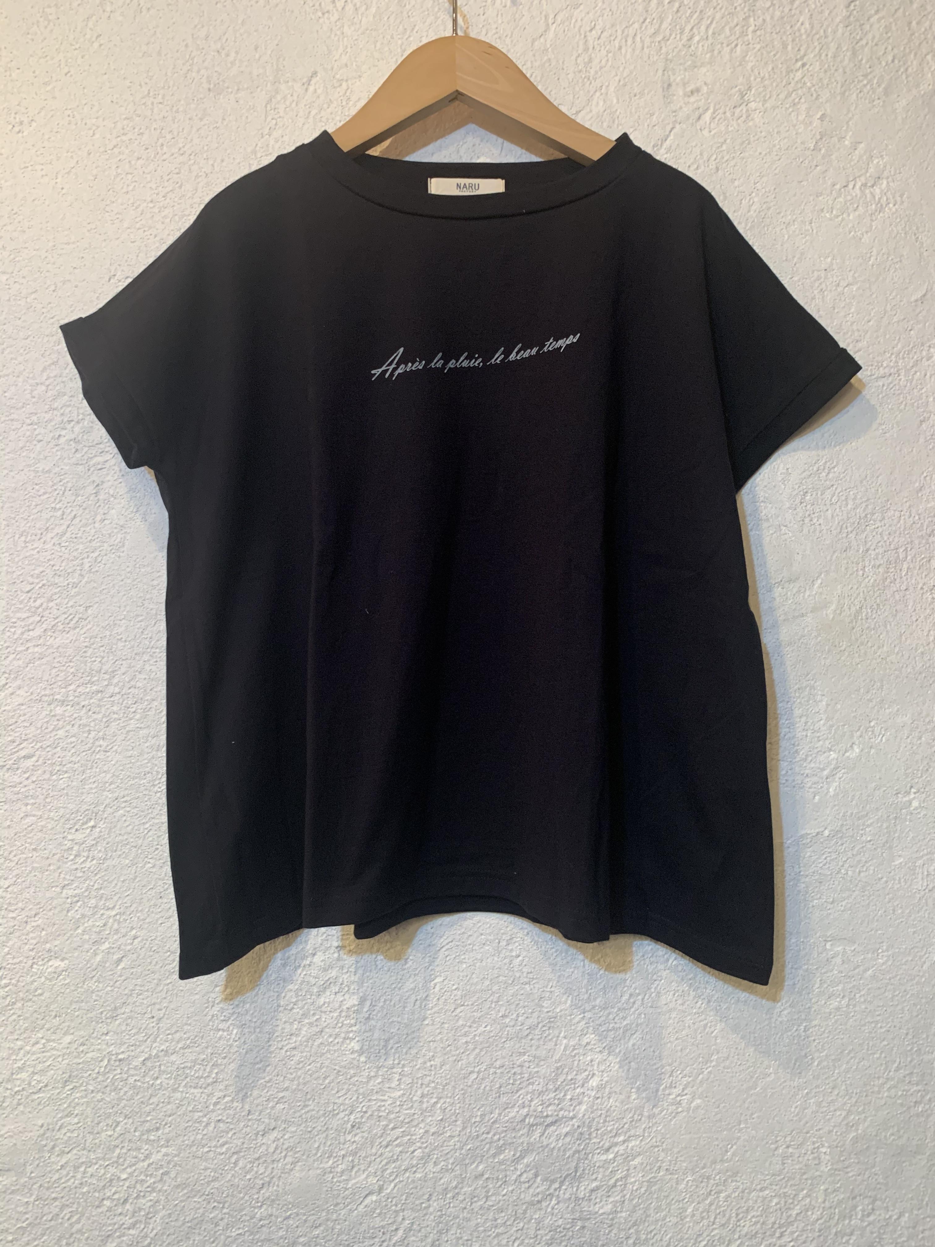 NARU/クラシック天竺AラインTシャツ  ブラック