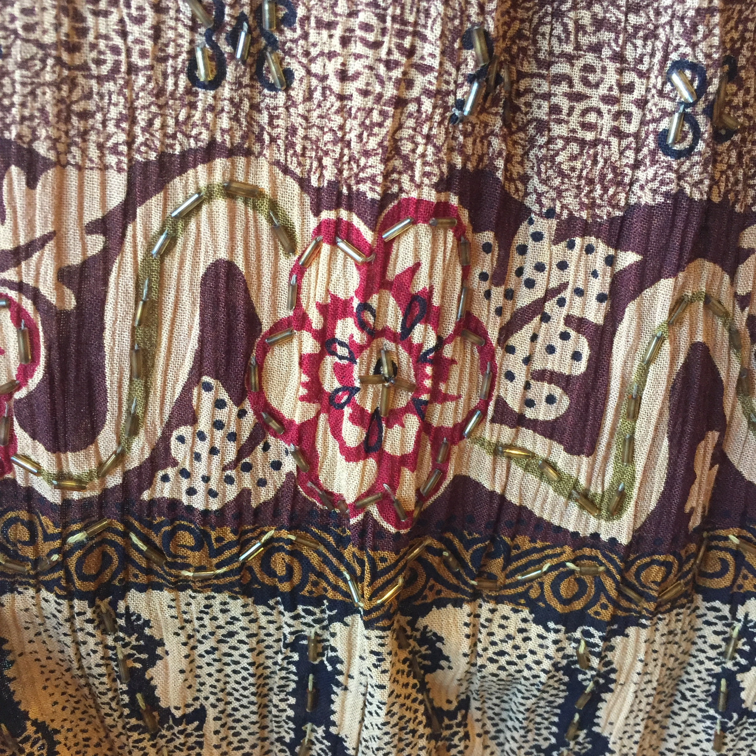 vintage Indian rayon skirt