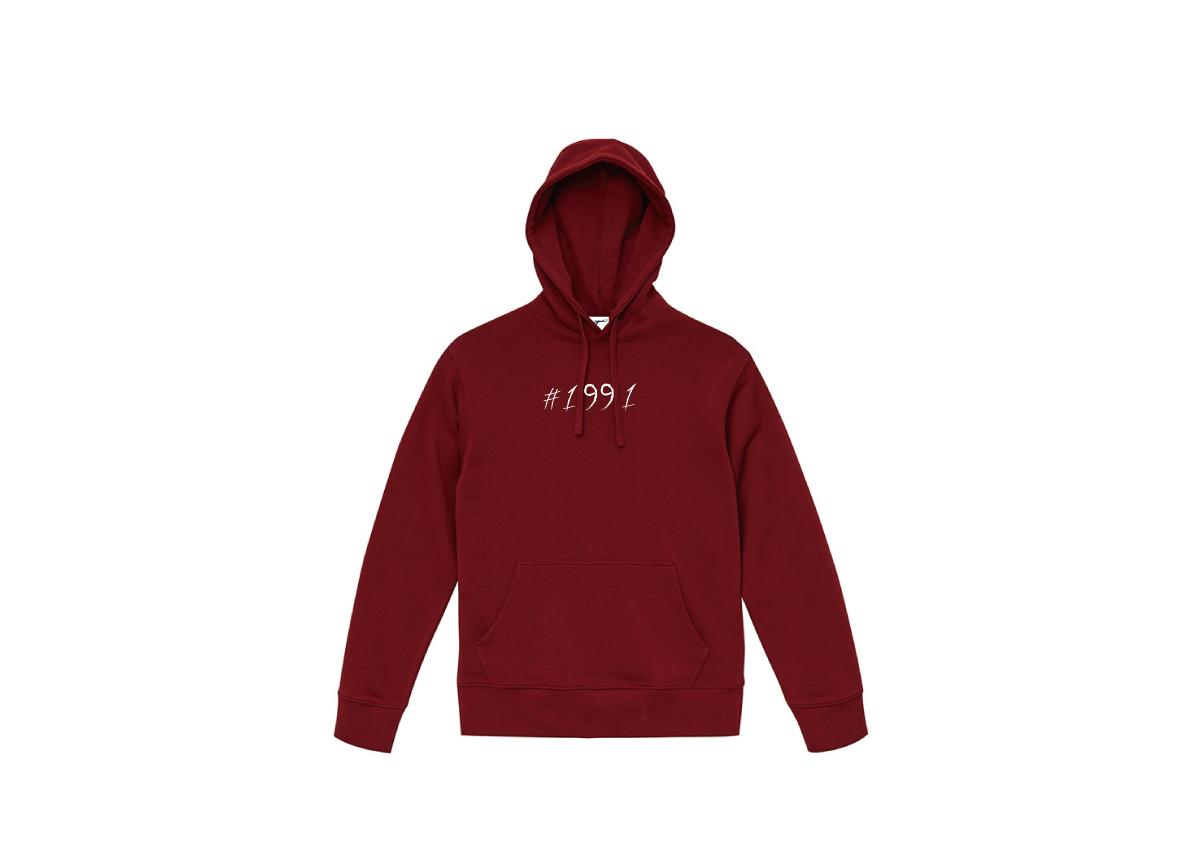 1991 hoodie(BURGUNDY)