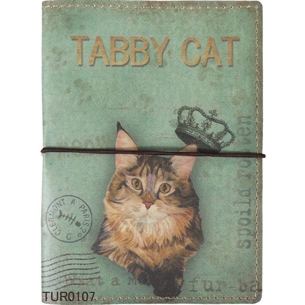 猫ブックカバー(文庫本サイズ)タビー