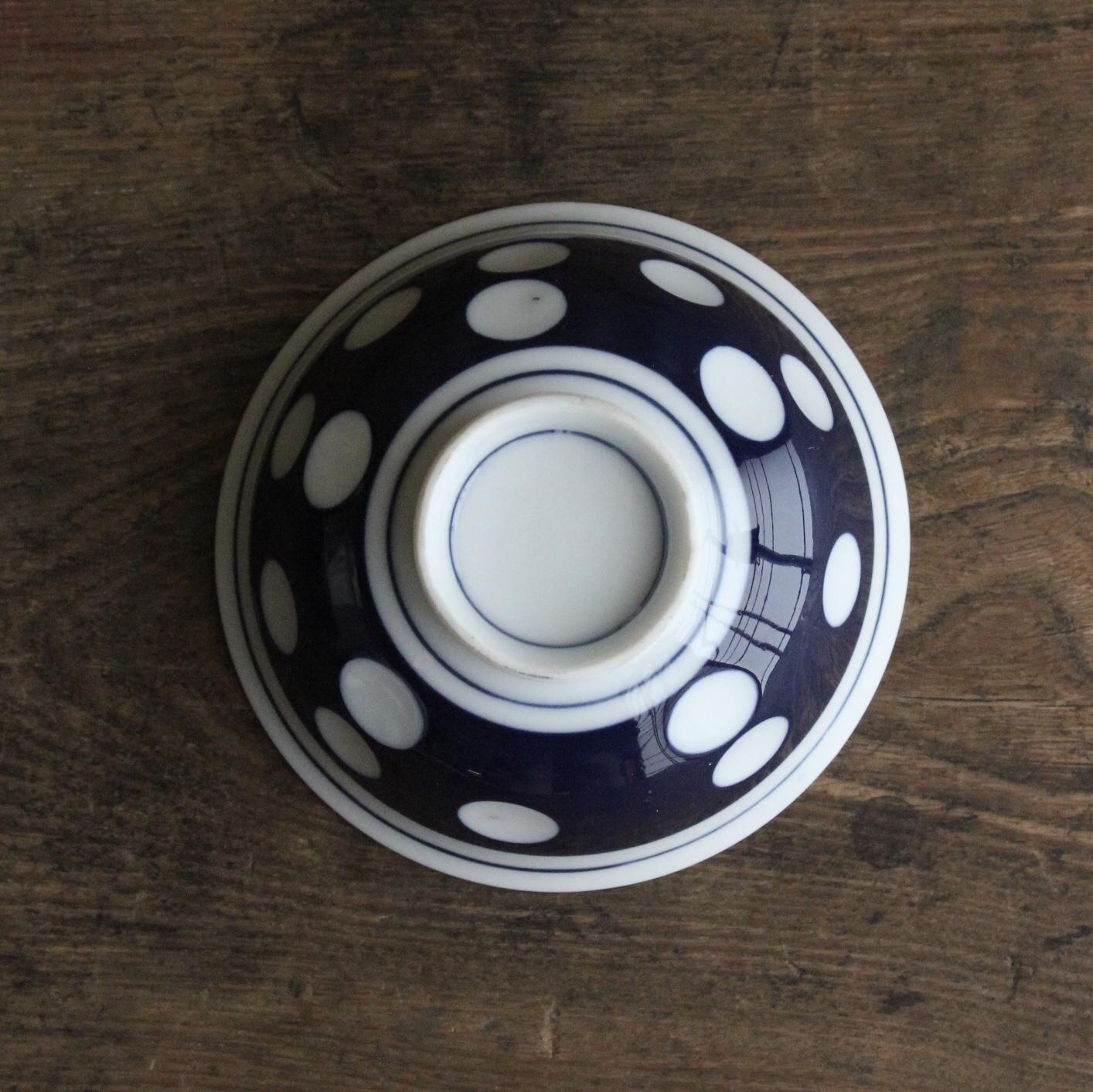 瑠璃水玉の茶碗 在庫5客
