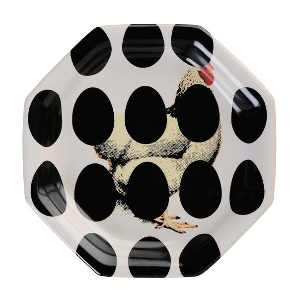 Royal Tichelaar Makkum Patchwork Chicken & Egg プレート