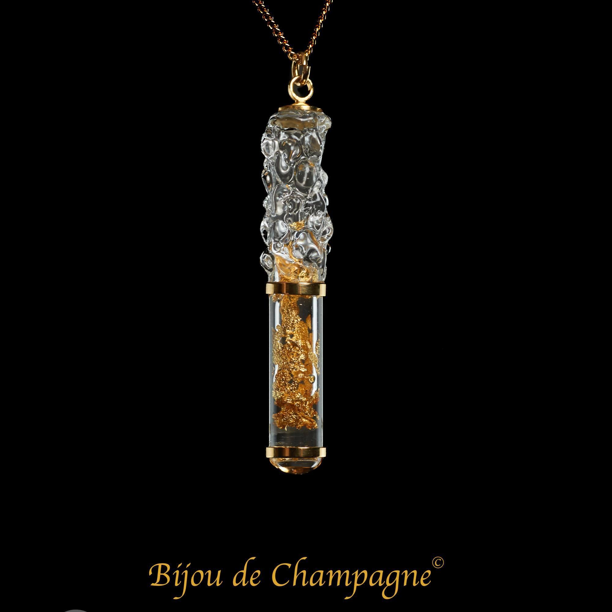 ビジュ・ドゥ・シャンパーニュ|「ムース・ドゥ・シャンパーニュ」(シャンパーニュの泡)ペンダント|フランス製|アクセサリー
