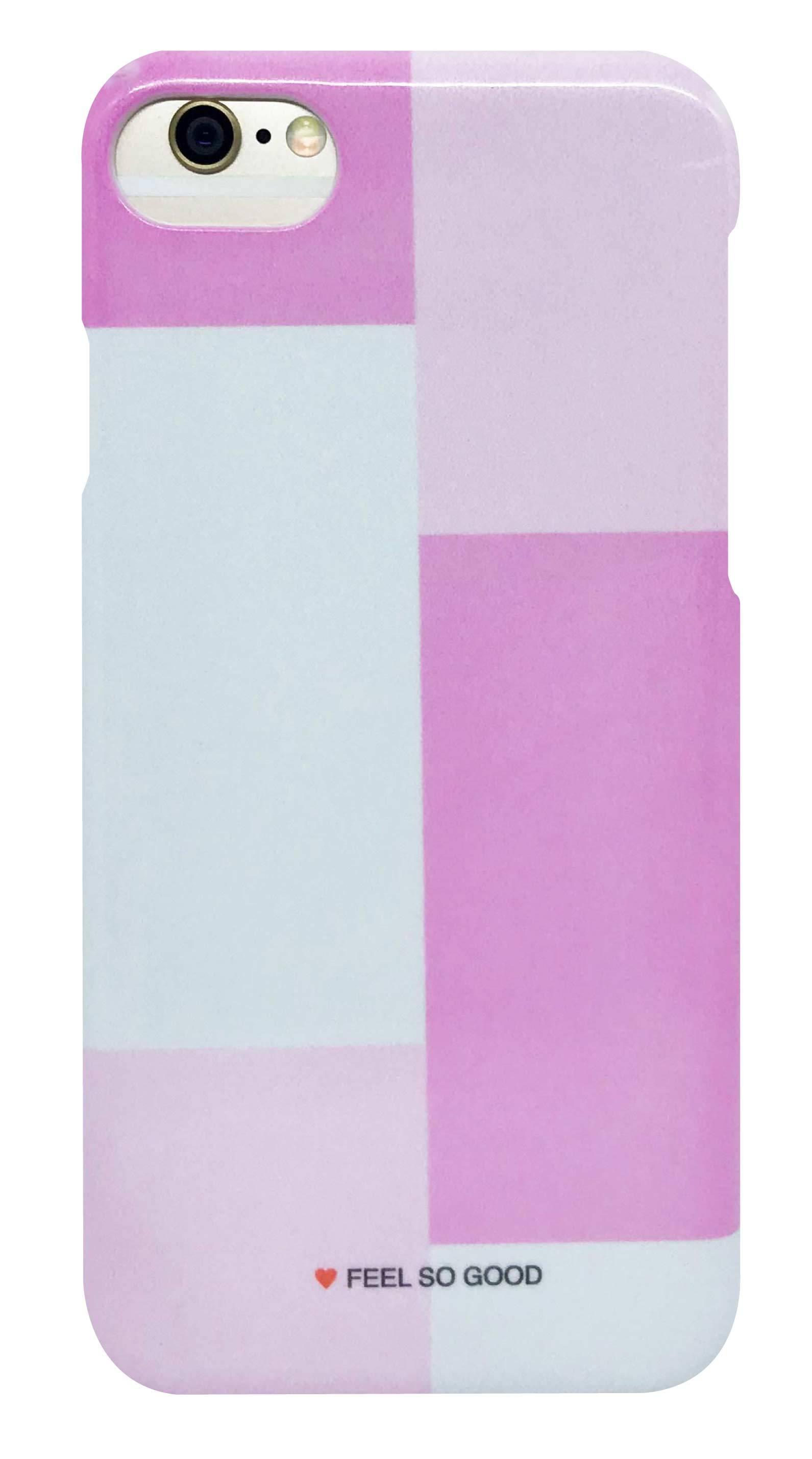 パネル カラー ・ ピンク × グレー つや有りハードケース