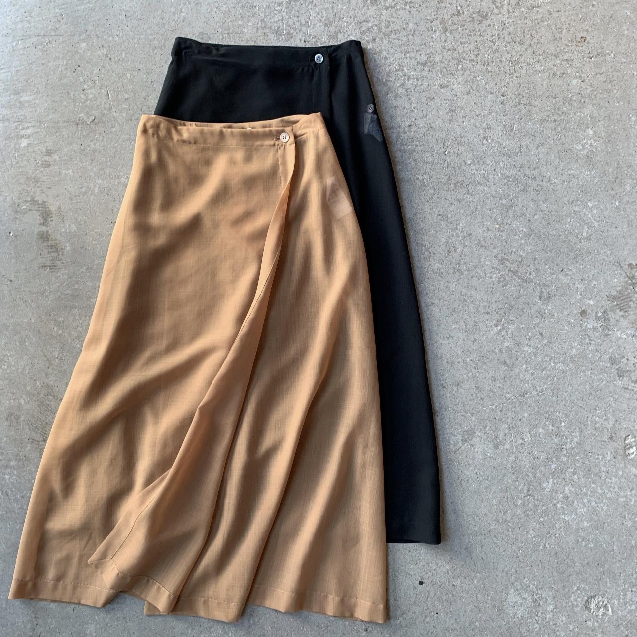 AURALEE - WOOL POLYESTER SHEER CLOTH SKIRT
