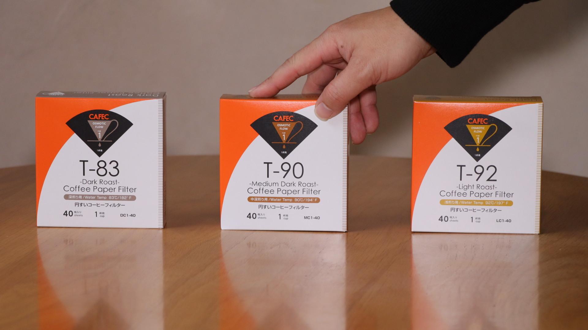 (1-2杯用)焙煎度別ペーパーフィルターお試し3種類セット