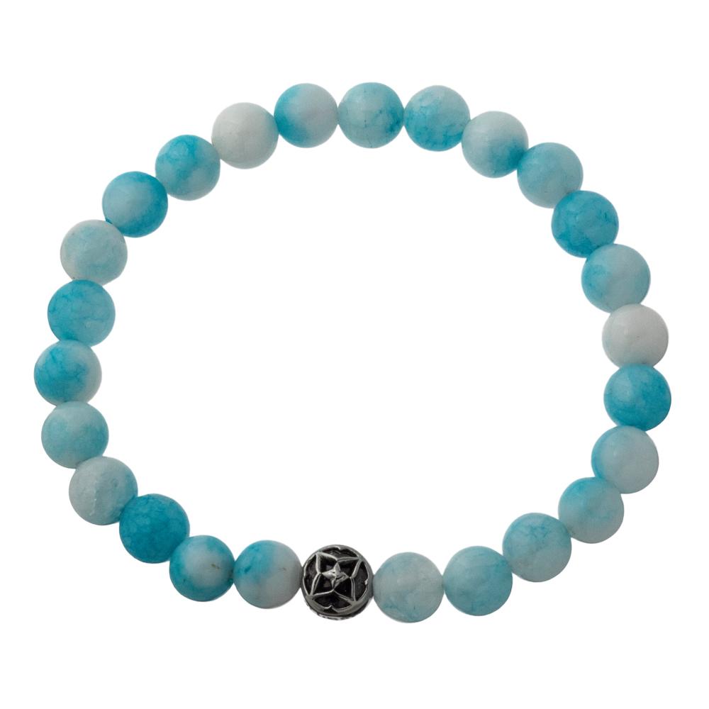 海色水晶数珠ブレスレット6mm レディースサイズ ACB0117