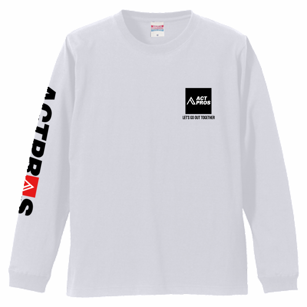 【UNISEX】ACTPROS スクエアロゴ  5.6oz 長袖Tシャツ(1.6インチリブ)【7colors】