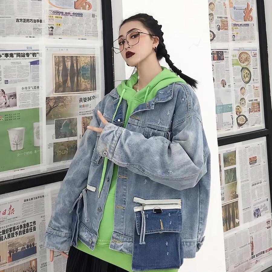 big pocket denim jacket