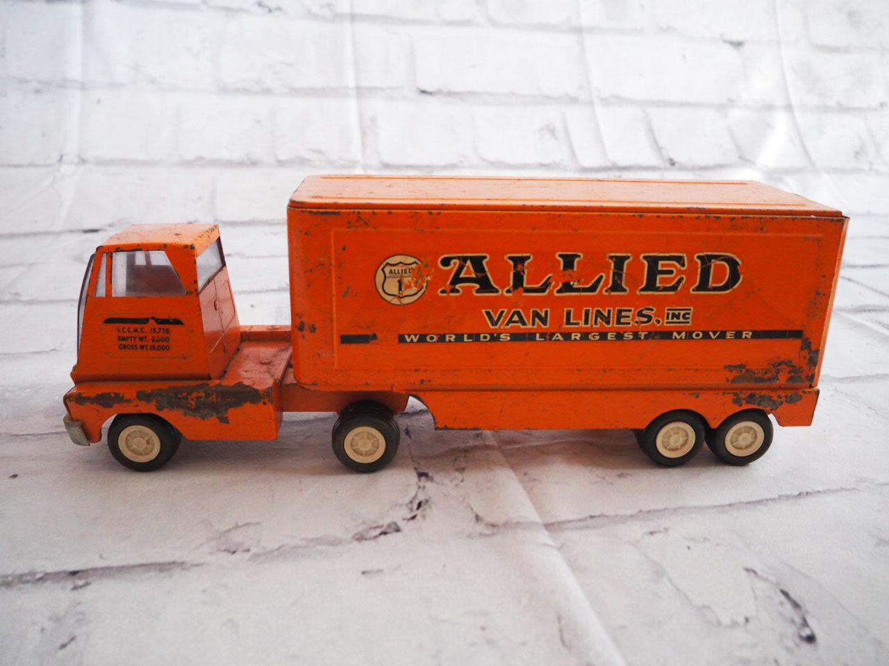 品番1018 メタルトンカトラック allied van lines ダイキャスト ブリキ ヴィンテージ