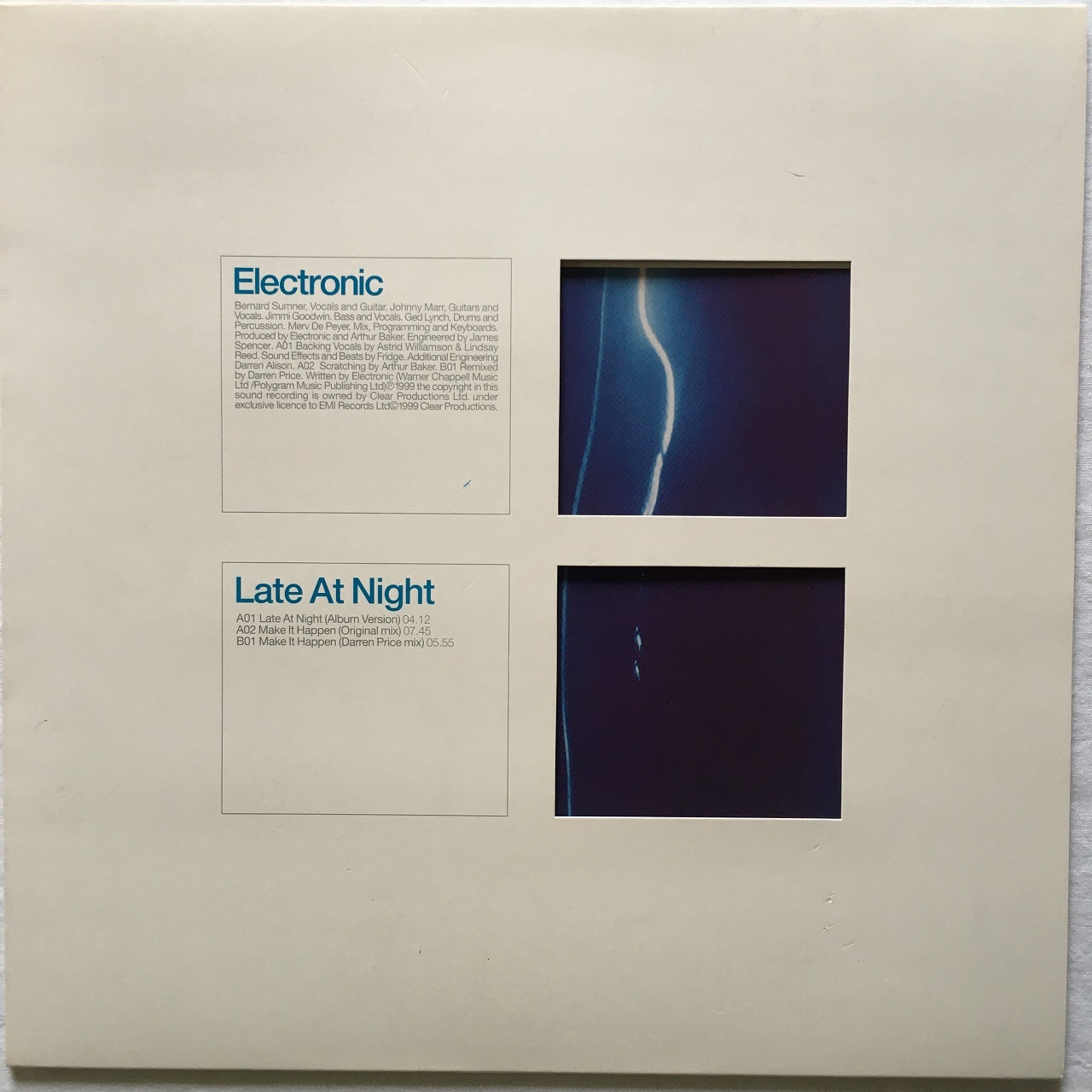 【12inch・欧州盤】Electronic / Late At Night