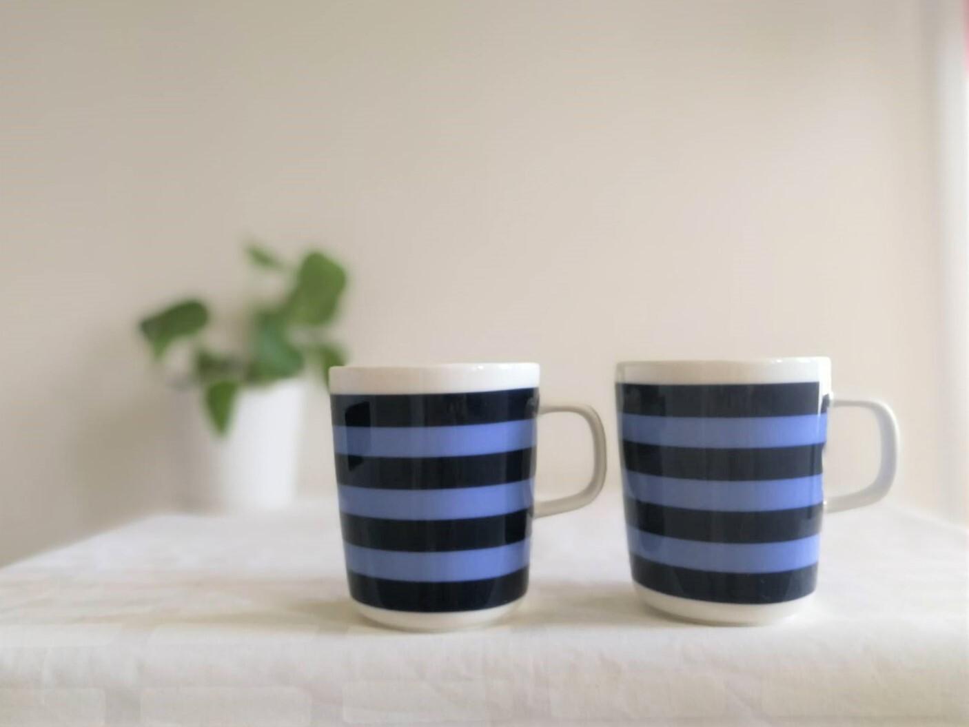 マグカップ / marimekko マリメッコ / TASARAITA タサライタ  (ブルーxネイビー) 250ml
