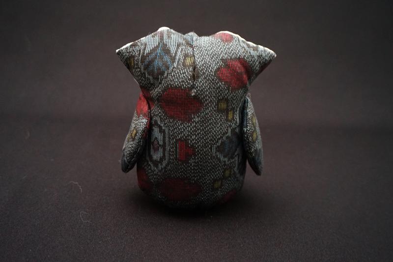着物、和服の古布人形・縁起物「ふくろう」1 - 画像5