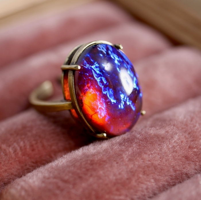 ドラゴンブレスガラスリング(指輪)