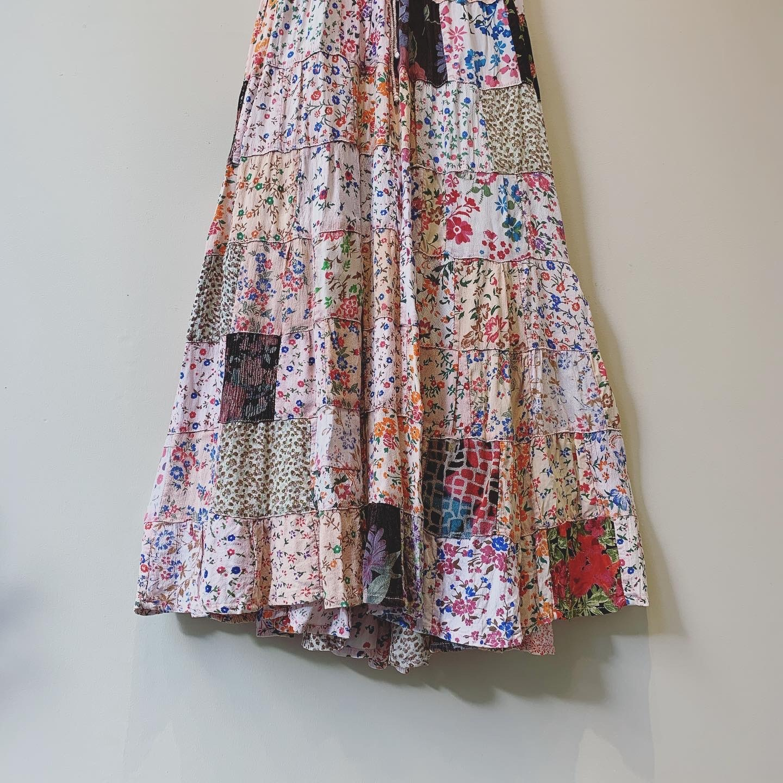 vintage patchwork skirt