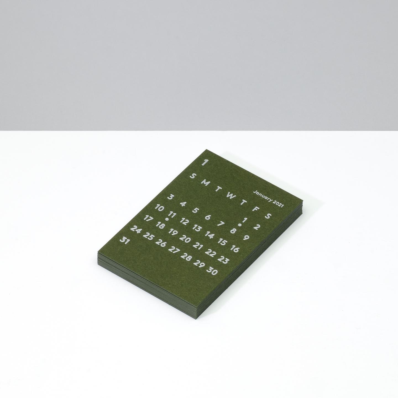 'CLARA' Calendar Refill 2021 Olive