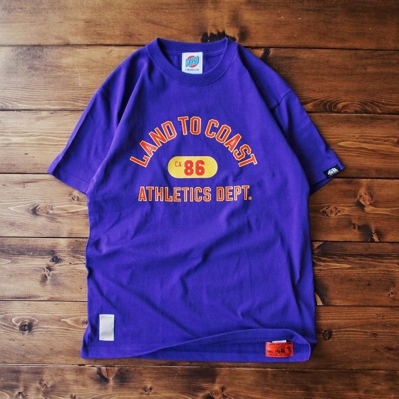 "【DARGO】""LAND TO COAST"" T-shirt (PURPLE)"
