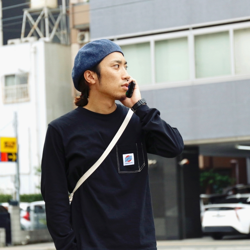 【DARGO】Working Pocket Long T-shirt (BLACK)