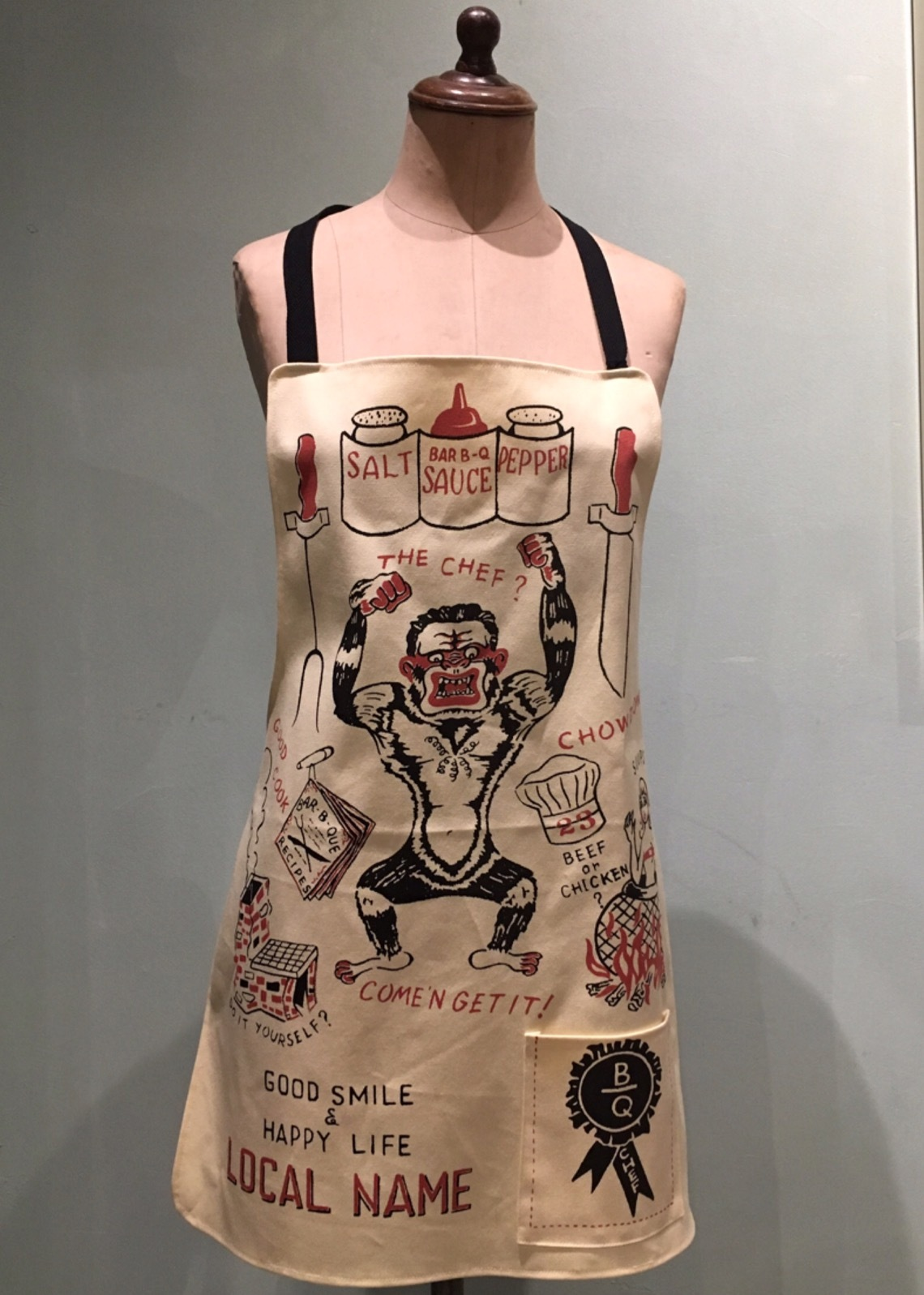 "LOCAL NAME ""THE CHEF?"" APRON (YELLOW)"