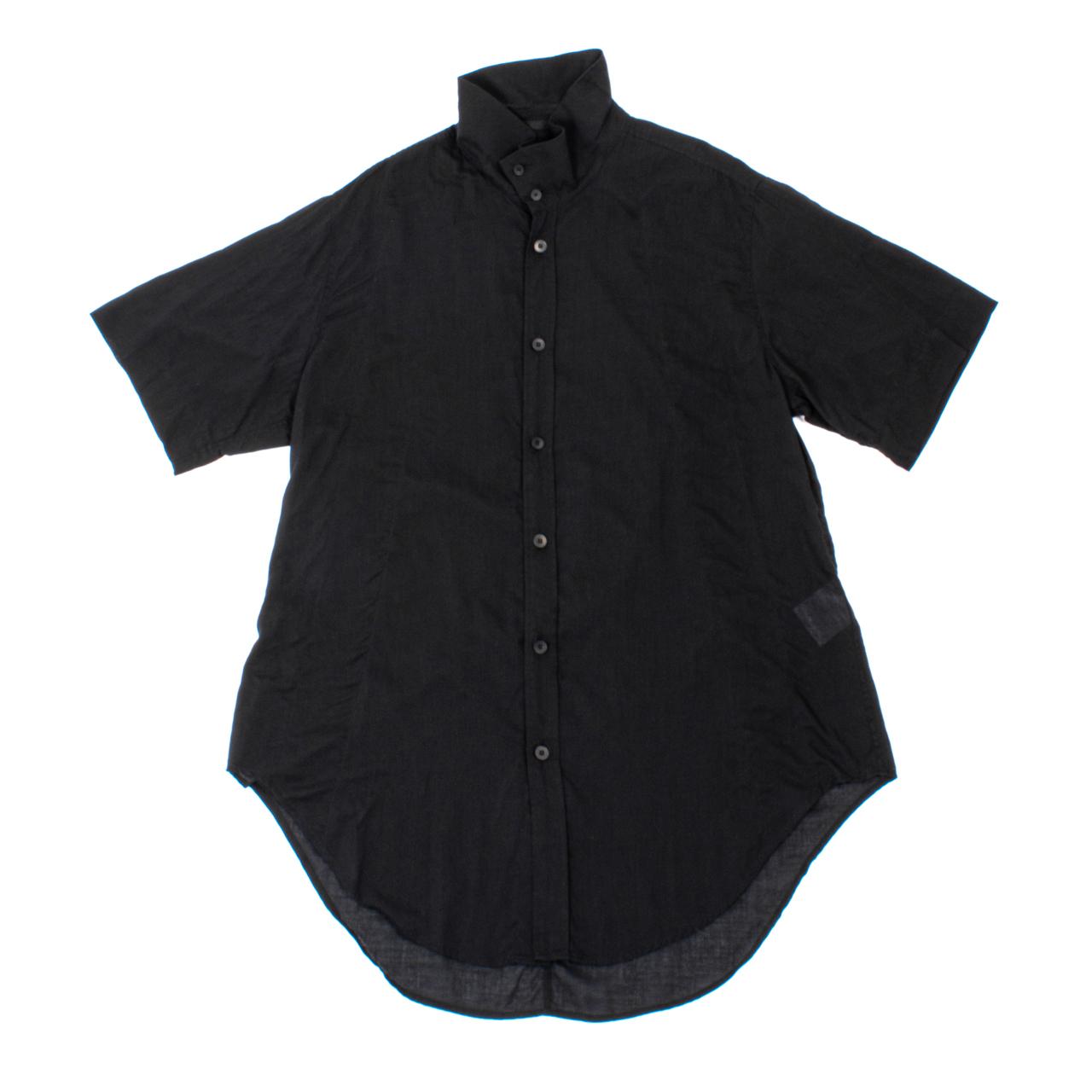 707SHM4-BLACK / スタンドカラーシャツ