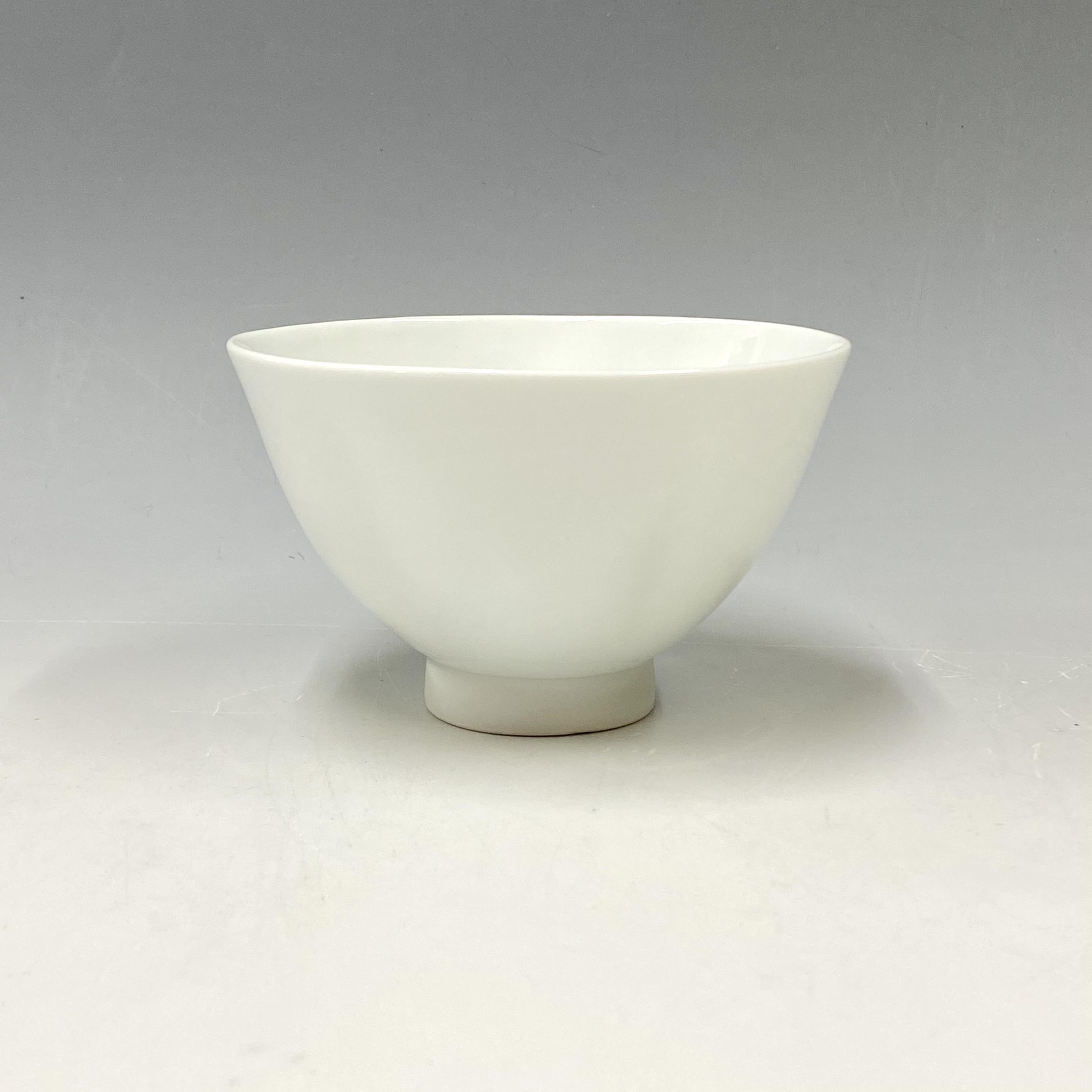 【中尾純】白磁五方押茶碗