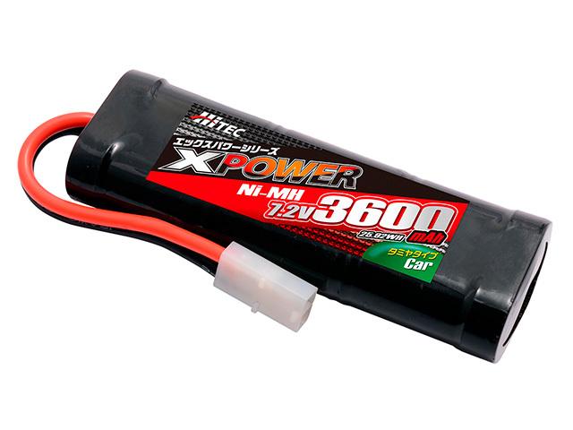 ハイテック ニッケル水素バッテリー XPOWER Ni-MH 7.2V 3600mAh