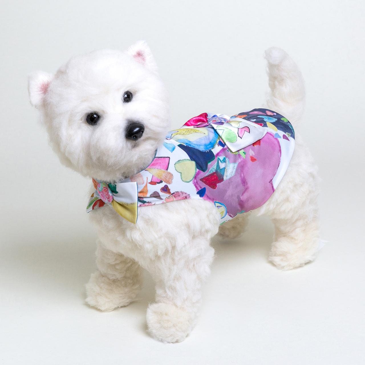 jibun-fuku DOG 【バック・リボンドレス】DOGBR201802