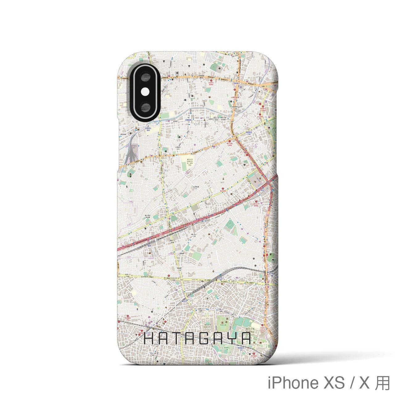 【幡ヶ谷】地図柄iPhoneケース(バックカバータイプ・ナチュラル)