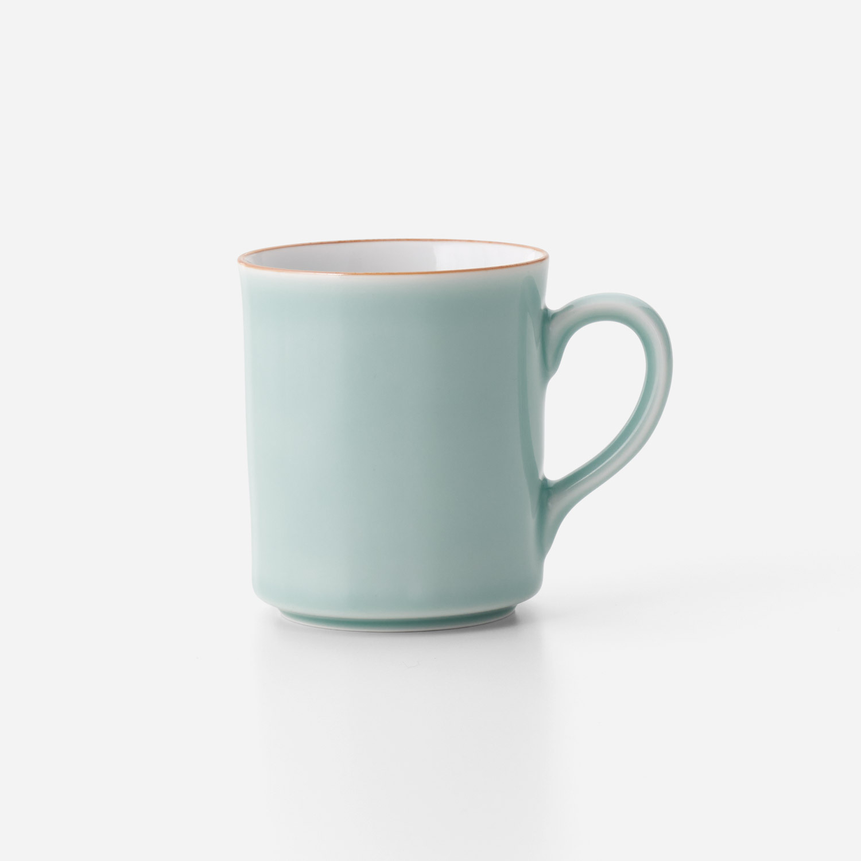 青磁口錆掛分けマグカップ A