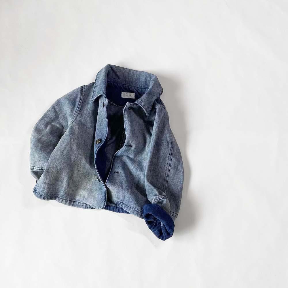 バイカラーデニムジャケット【O047】