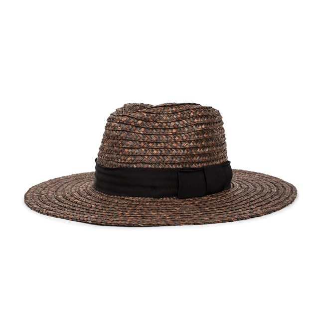 BRIXTON #JOANNA HAT WASHED BLACK/BROWN