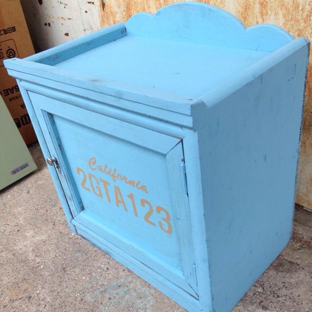 ブルー リメイク棚