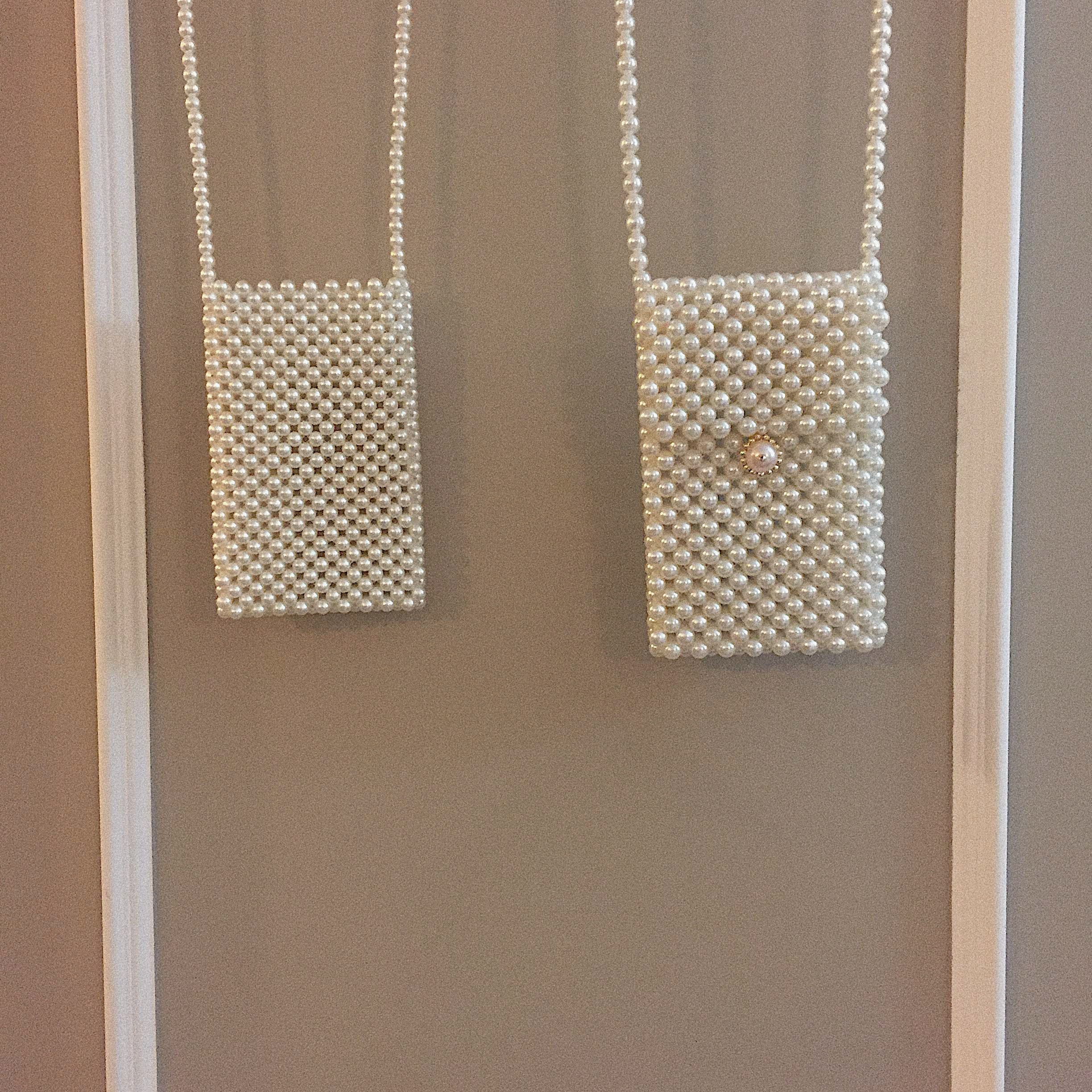 pearl lectangle bag (2type)