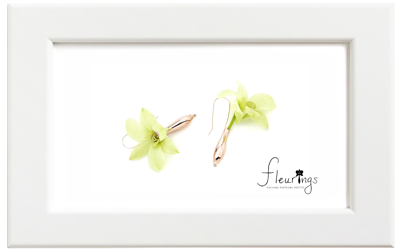 Fleurings/フルーリングス ゴールドポリッシュイヤリング